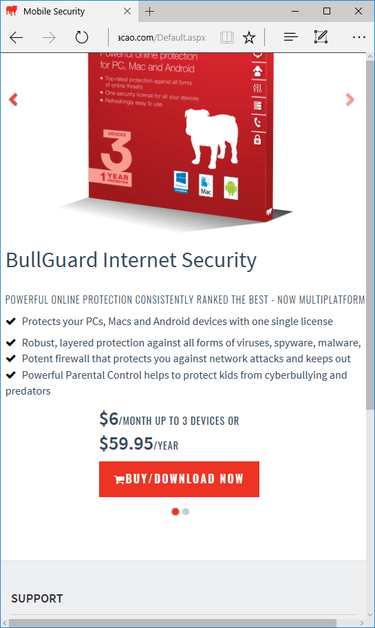 How to purchase BullGuard Internet Security for Windows and Mac
