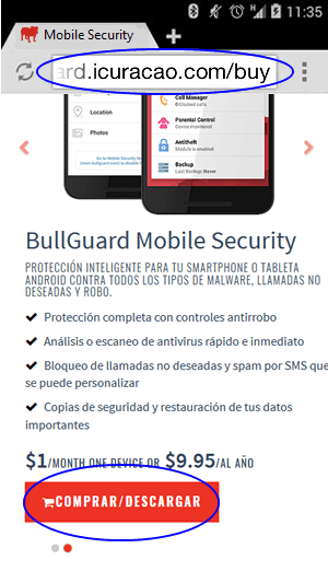 How to purchase BullGuard mobile security for Android